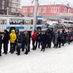 Очередь к мощам святой Матроны в Барнауле