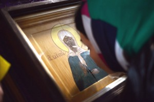 Мироточение иконы Матроны Московской