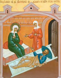 Исцеление св. блж. Матроной болящего по вере его же сестры.