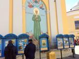 Вход на территорию монастыря   Колокольня на территории монастыря
