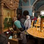 Паломники у иконы Матроны Московской